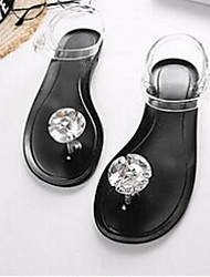 Women's Sandals Jelly PVC Casual Black / White / Black and White