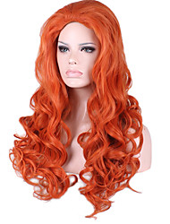 Long Body Wave Medium Side Bang Synthetic Wigs Heat Resistant Cosplay Wig Hair