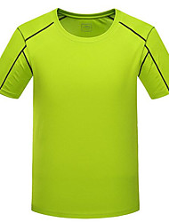 Running Tops Men's Short Sleeve Breathable / Quick Dry Polyester Exercise & Fitness / Racing / Basketball / Football/Soccer / Running
