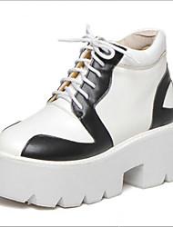 Черный / Белый-Женский-Для прогулок-ПолиуретанOthers-Ботинки