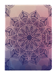 For Apple iPad Air 2 Air 4 3 2 PU Leather Material Mandala Flowers Pattern Painted Flat Panel Protective Case