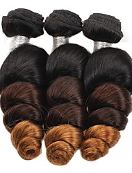 3 Pieces Loose Wave Ombre Human Hair Weaves 3 Tone Brazilian Texture 300g 12-24inches Human Hair Extensions