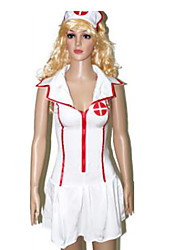 Inspired by LOL Akali Video Game Cosplay Costumes Cosplay Suits Solid White Sleeveless Skirt / Hat