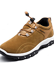 Hiking Shoes Men's Athletic Shoes Spring Fall Comfort PU Casual Flat Heel Lace-up Black Blue Yellow Gray