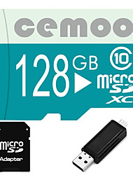 CEMOO Original Pastoralism Series 128GB Micro SD card Class 10  with SD SDHC Adapter and Multi-function OTG USB Card Reader