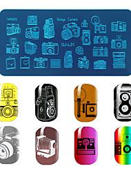 1pcs / lot modelo de placa de impressão manicure filme impressão diy unha azul