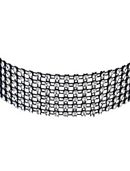 Gothic Style Rhinestone Wide Choker Collar Necklaces for Women