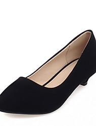 Women's Heels Spring / Summer / Fall Others Leatherette Office & Career / Dress / Casual Low Heel Slip-on Black / Blue / Red Others