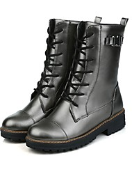 Women's Boots Spring / Fall / Winter Others Dress / Casual Chunky Heel Lace-up Black / Silver Others