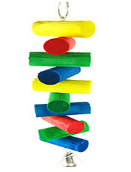 Portable Wood Multi-Color Bird Toys1PC