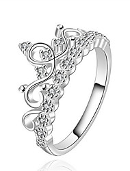 Jewelry Women Sterling Silver Silver Crown Ring