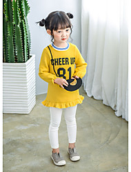 Girl's Casual/Daily Solid Dress,Cotton Winter / Fall Long Sleeve