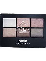 6 Eyeshadow Palette Shimmer Eyeshadow palette Cream Normal Daily Makeup