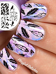 BORN PRETTY Nail Art Stamping Template Plates BP75 Birds Dragon Feather Design