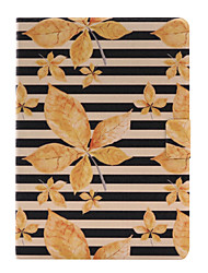 For Apple iPad Air 2 Air 4 3 2 PU Leather Material Autumn Leaves Pattern Painted Flat Panel Protective Case