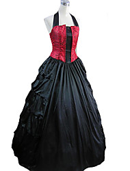 One-Piece/Dress Gothic Lolita Princess Cosplay Lolita Dress Red / Black Vintage Sleeveless Long Length Dress For Women Charmeuse