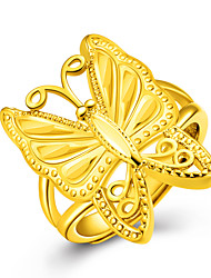 18k Gold Butterfly Ring Non Stone Wedding / Party / Daily / Casual Jewelry Gold Women Ring 1pc One Size Adjustable Gold / Silver