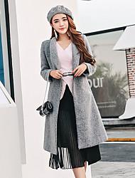 signer 2016 hiver nouvelle version coréenne de manteau manteau de laine de laine et de longues sections marée mince