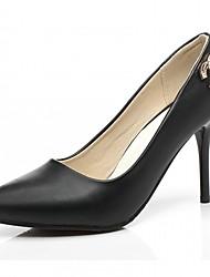 Damen-High Heels-Büro Lässig Kleid-Kunstleder-StöckelabsatzWeiß Schwarz Rosa