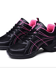 Non Customizable Women's Dance Shoes Leather Leather Jazz / Dance Sneakers / Modern Sneakers Chunky Heel Practice / Outdoor / Performance