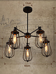 Pendant Light ,  Vintage Country Painting Feature for Designers Metal Living Room Bedroom Dining Room Study Room/Office