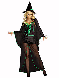 Wizard/Witch Festival/Holiday Costumes Dress / Hats / Cloak Female Polyester