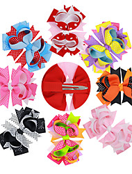 8Pcs/set Baby Girls Colorful Hair Clips Todder Hair Accessories Infant Hair Bows