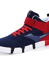 Femme-Décontracté / Sport-Noir / Bleu / Blanc-Talon Plat-Confort-Sneakers-Daim