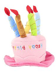 Cães Bandanas e Chapéus Rosa Roupas para Cães Verão Primavera/Outono Carta e Número Fofo Aniversário