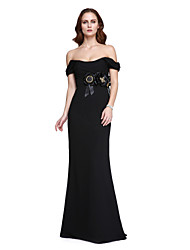 TS Couture® Prom  Formal Evening Dress - Sexy / Celebrity Style Trumpet / Mermaid Off-the-shoulder Floor-length Velvet Chiffon with Beading