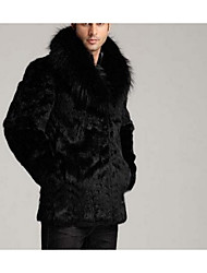 Women's Club Sexy Fur Coat,Solid Long Sleeve Black Faux Fur