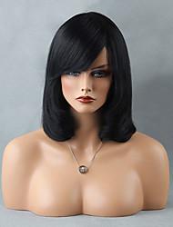 нарядно средней длины монолитным парики естественные прямые парики человеческих волос
