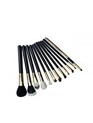 Factory Direct Sale Long Pole 12 Gold Makeup Brush High-Grade Wool Makeup Kit Low Price Selling