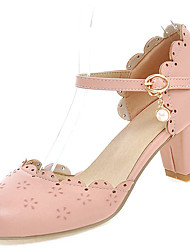 Women's Heels Spring / Summer / Fall Heels / Sandals   / Casual Chunky HeelImitation Pearl / Buckle / Stitching