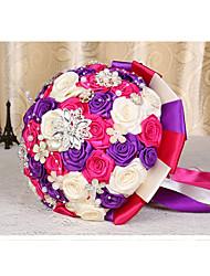 Fleurs de mariage Rond Roses Bouquets Le Party / soirée Taffetas 50cm