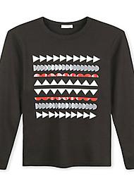 Trenduality® Herren Rundhalsausschnitt Lange Ärmel T-Shirt Schwarz - 43266