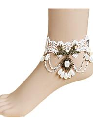 dentelle blanche bijoux de cheville de 1pc des femmes