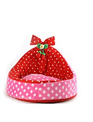 Dog Bed Pet Baskets Pink Fabric / Terylene