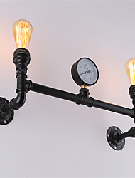Vintage Industrial Pipe Wall Lights Black Creative Lights Restaurant Cafe Bar Decoration lighting With 2 Light Painted Finish