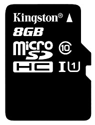Kingston 8GB Class 10 microSDHC tf Speicherkarte mit SD-Adapter