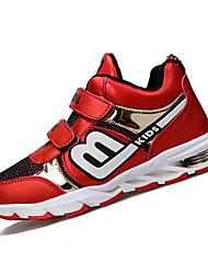 Para Meninos-Tênis-Conforto-Rasteiro-Vermelho Preto e Branco Azul Real-Couro Ecológico-Casual Para Esporte