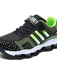Boy's Athletic Shoes Fall Comfort Tulle Athletic Flat Heel Hook & Loop Blue Green Purple Walking