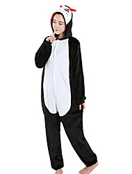 kigurumi Pyjamas Diable Fête / Célébration Pyjamas Animale Halloween Noir Léopard vison de velours Kigurumi PourUnisexe / Féminin /