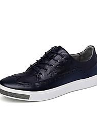 Masculino-Oxfords-Plataforma-Plataforma-Preto / Azul / Vermelho-Napa Leather-Casual