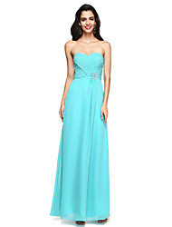 2017 Lanting Bride® Floor-length Chiffon Open Back Bridesmaid Dress - Sweetheart with Beading