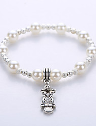 Bracelet Strand Bracelet  Imitation Pearl Bracelet Alloy Pendant Fashion Original Manual Single Men and Women On Couple Bracelet