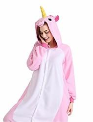 Kigurumi Пижамы Лошадь Фестиваль / праздник Нижнее и ночное белье животных Halloween розовый Животные принты Velvet норки Кигуруми Для