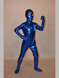 Festival/Holiday Costumes Blue Solid Zentai Kid Rubber Shine