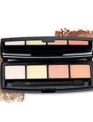 4 Lidschattenpalette Matt Lidschatten-Palette Cream Normal Alltag Make-up