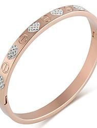 Feminino Bracelete Amor Jóias de Luxo Moda Clássico Aço Inoxidável Strass Jóias Para Diário